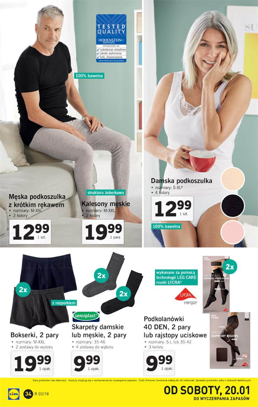 Gazetka Lidl Polska Sp. z o.o. nr 34 od 2018-01-15 do 2018-01-21