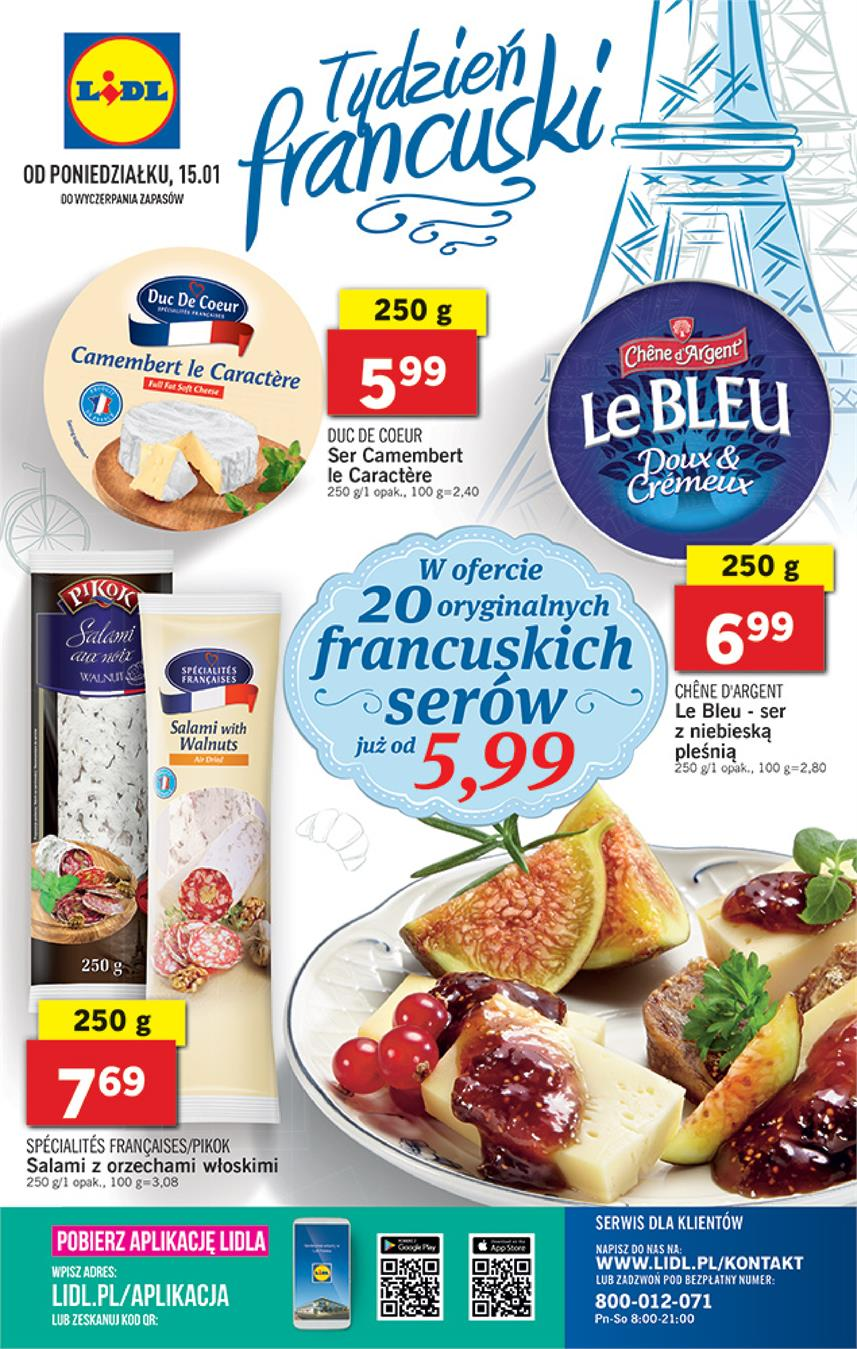 Gazetka Lidl Polska Sp. z o.o. nr 36 od 2018-01-15 do 2018-01-21