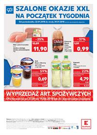 Gazetka nr Kaufland Polska Markety Sp. z o.o od  2018-01-22 do 2018-01-24