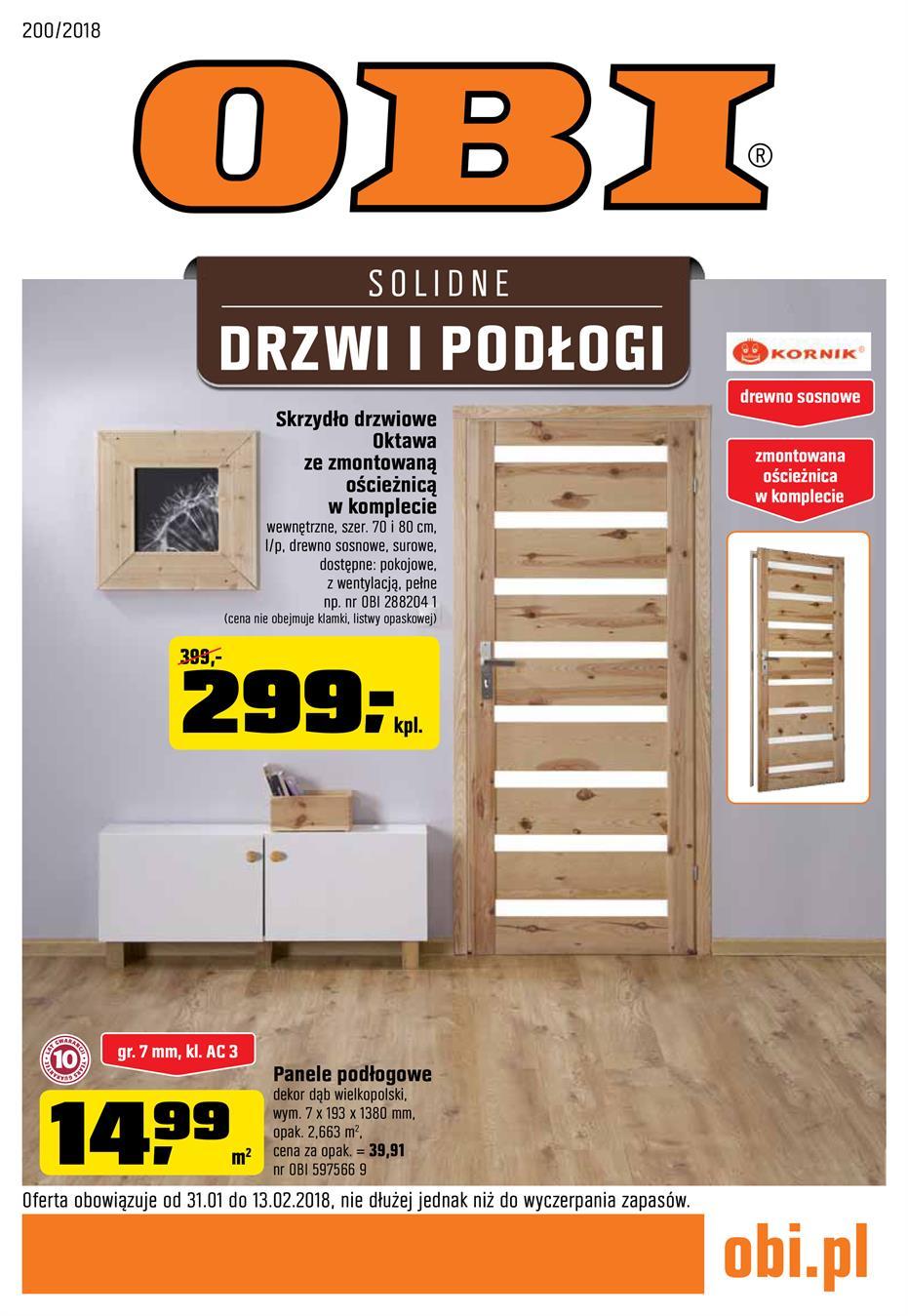 Gazetka Promocyjna Obipl Solidne Drzwi I Podłogi