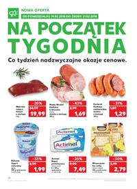 Gazetka nr Kaufland Polska Markety Sp. z o.o od  2018-02-19 do 2018-02-21