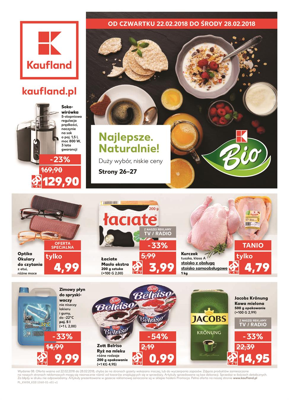 Gazetka Kaufland Polska Markety Sp. z o.o nr 0 od 2018-02-22 do 2018-02-28