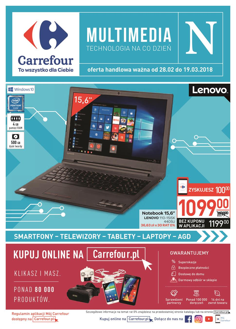 Gazetka Carrefour Polska Sp. z o.o. nr 0 od 2018-02-28 do 2018-03-19