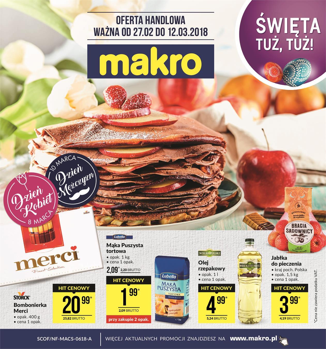 951cfa469f007 Gazetka promocyjna Makro od 27 lutego ważna od 27-02-2018 do 12-03-2018