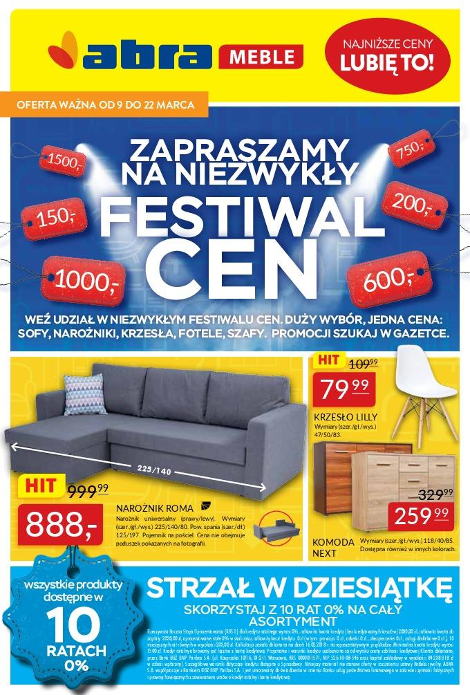 Gazetka Promocyjna Abra Meblepl Festiwal Cen Marzec 2018