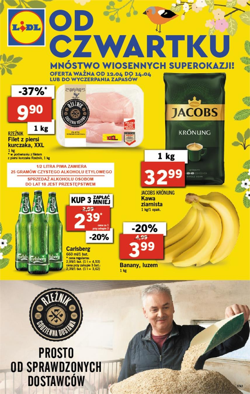 Gazetka Lidl Polska Sp. z o.o. nr 1 od 2018-04-12 do 2018-04-14