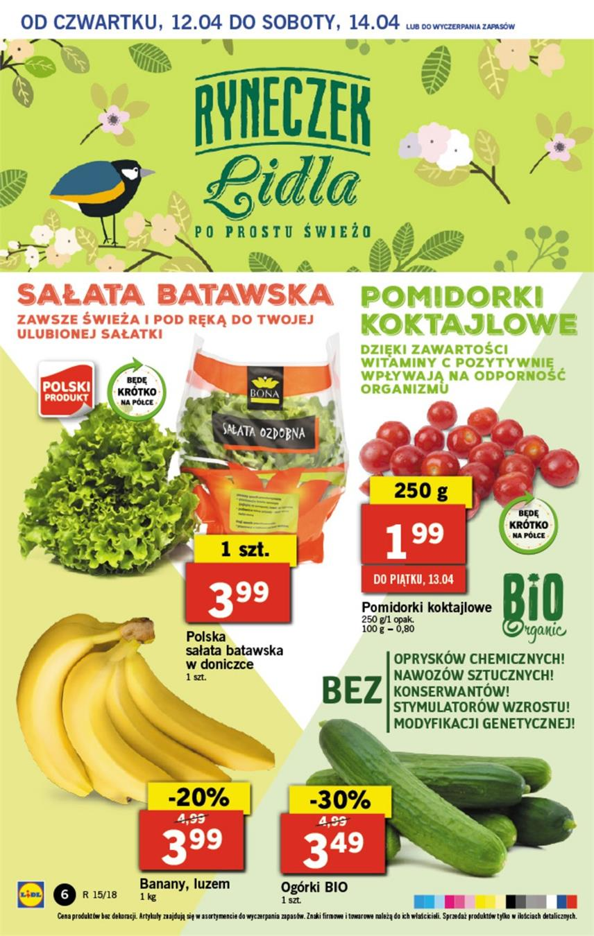 Gazetka Lidl Polska Sp. z o.o. nr 6 od 2018-04-12 do 2018-04-14