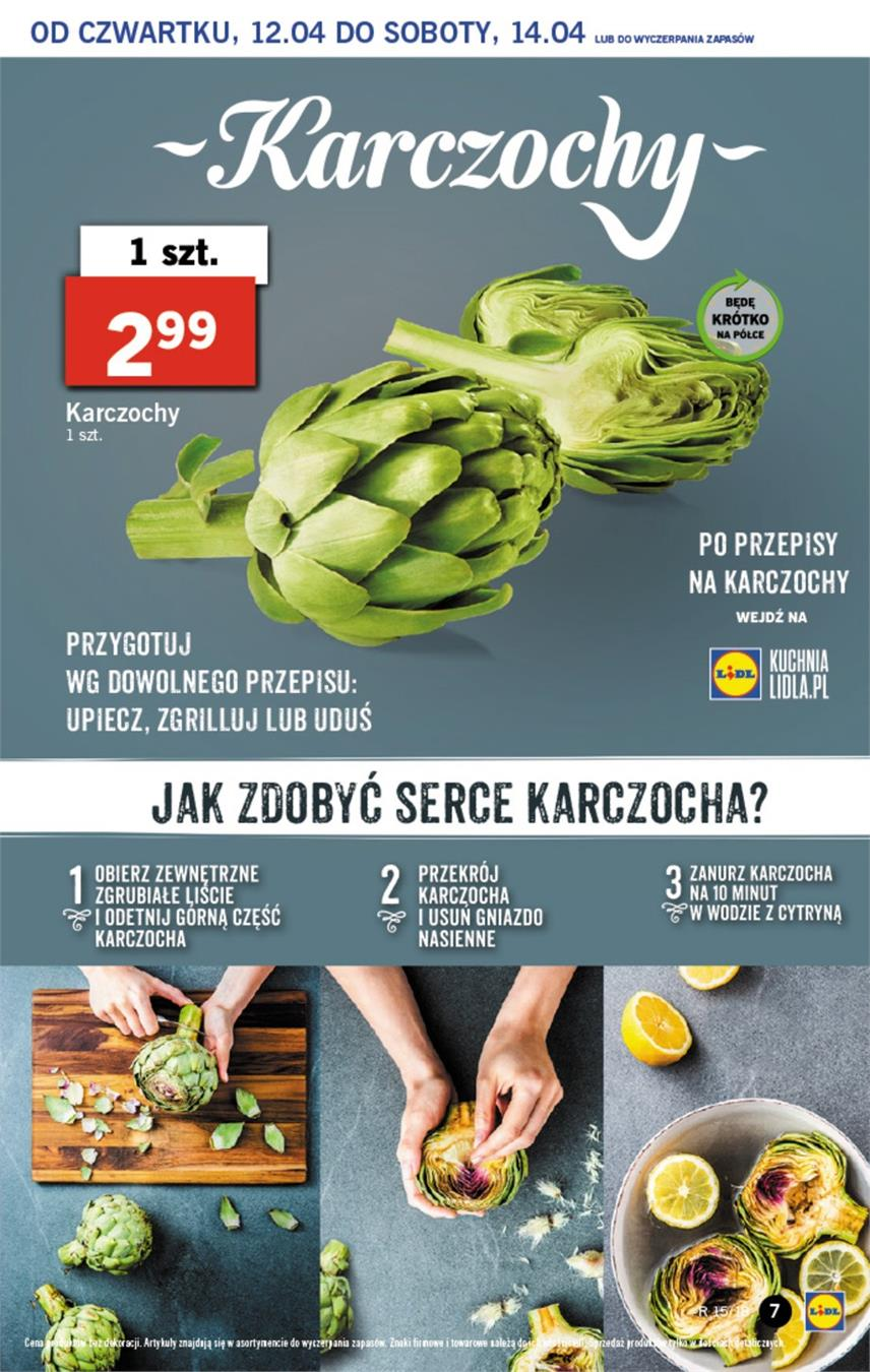 Gazetka Lidl Polska Sp. z o.o. nr 7 od 2018-04-12 do 2018-04-14