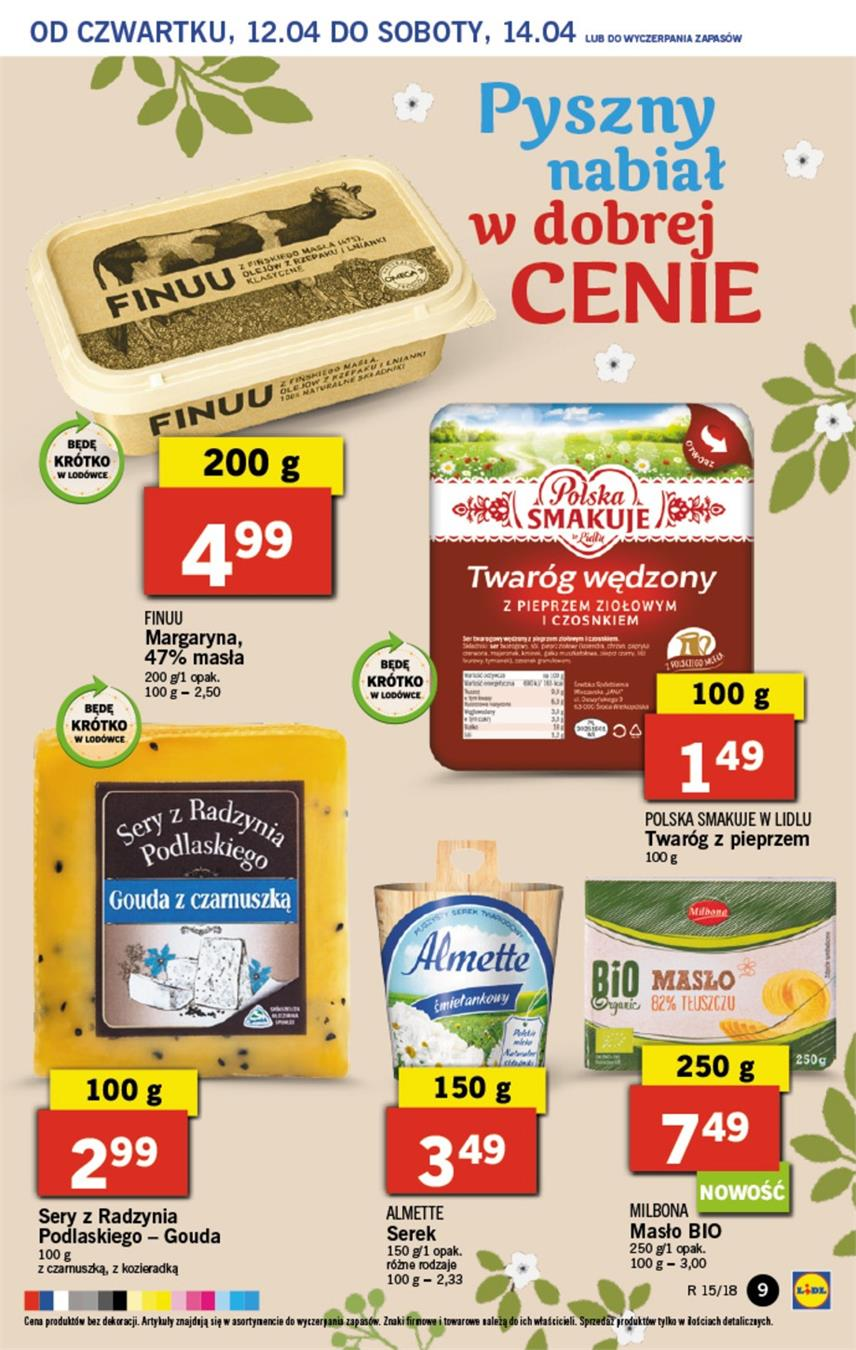 Gazetka Lidl Polska Sp. z o.o. nr 9 od 2018-04-12 do 2018-04-14