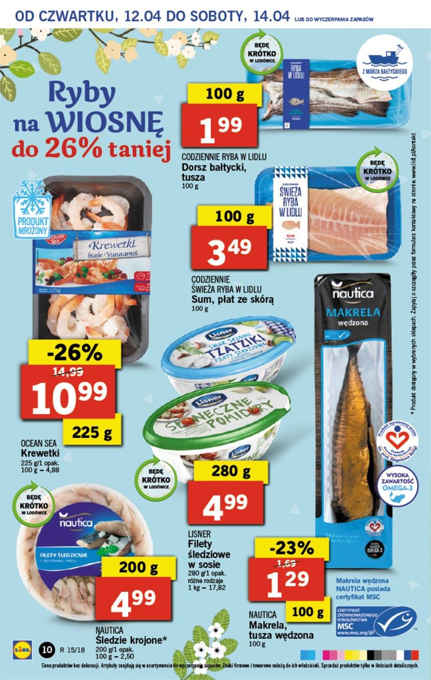 Gazetka Lidl Polska Sp. z o.o. nr 10 od 2018-04-12 do 2018-04-14