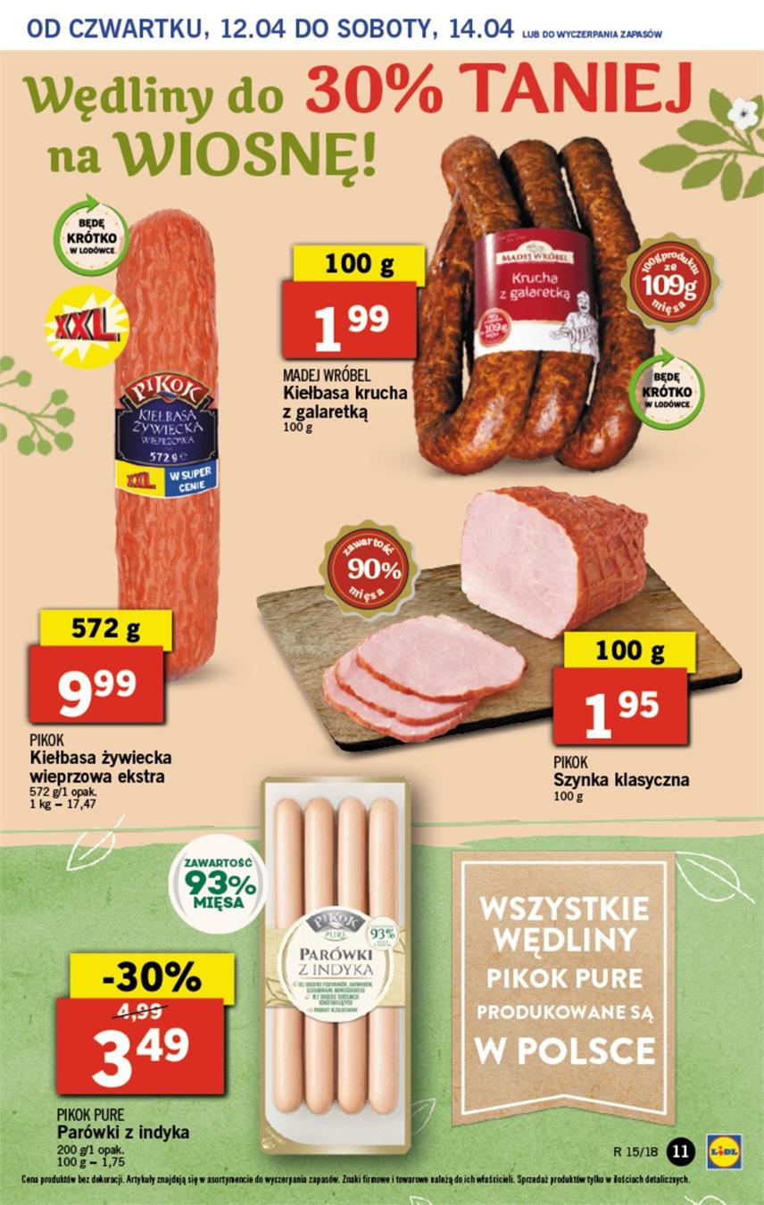 Gazetka Lidl Polska Sp. z o.o. nr 11 od 2018-04-12 do 2018-04-14