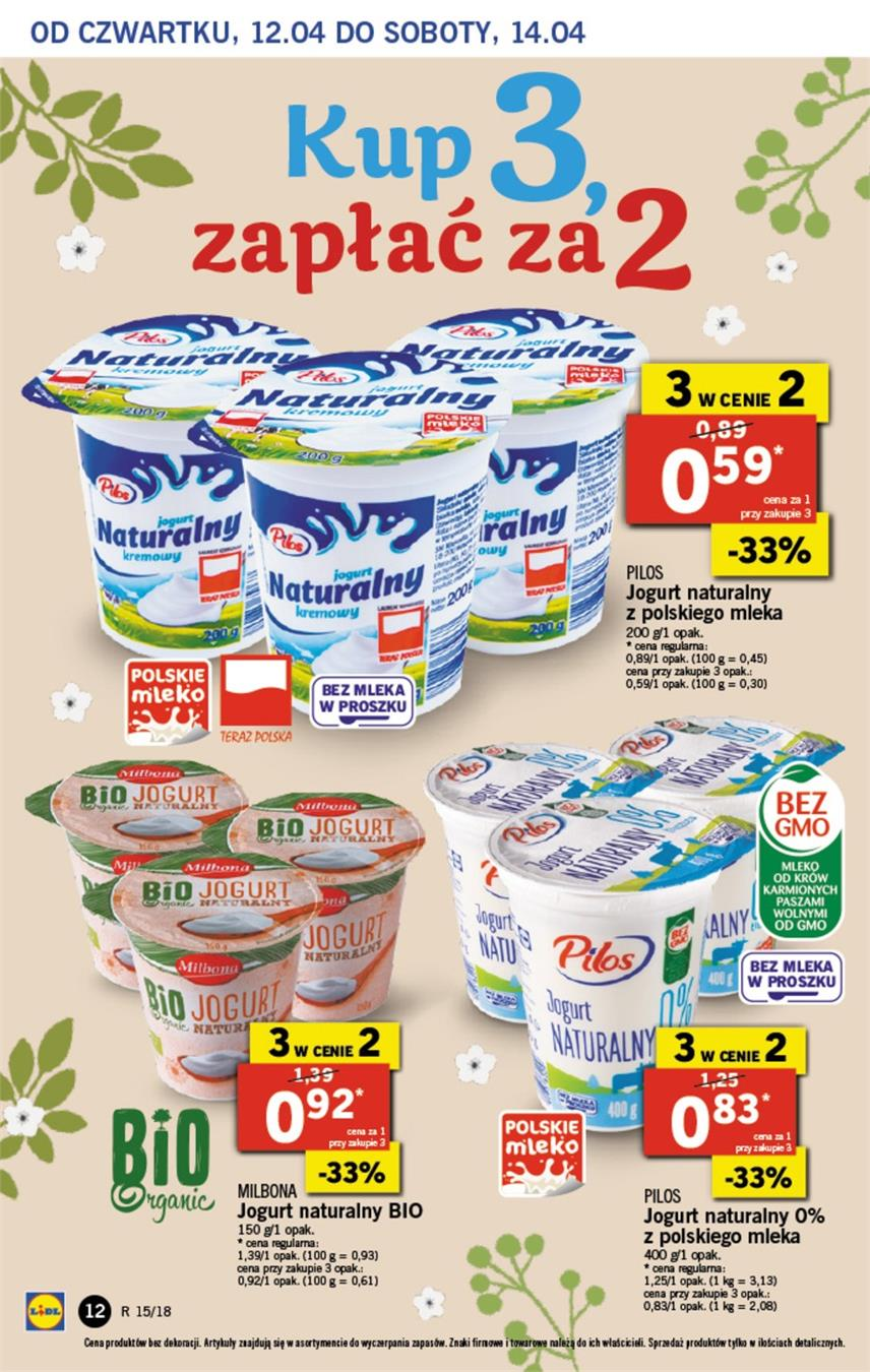 Gazetka Lidl Polska Sp. z o.o. nr 12 od 2018-04-12 do 2018-04-14
