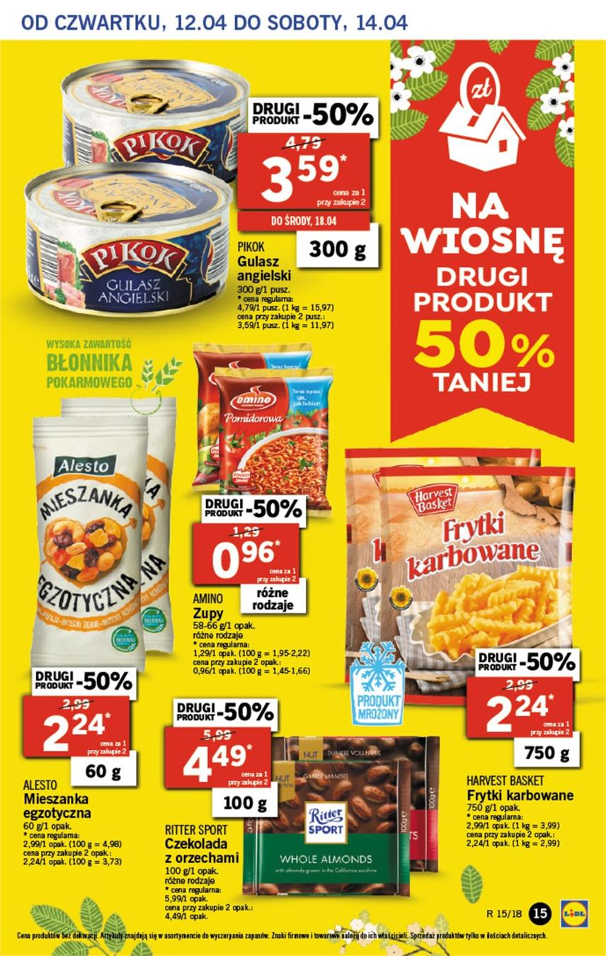 Gazetka Lidl Polska Sp. z o.o. nr 15 od 2018-04-12 do 2018-04-14