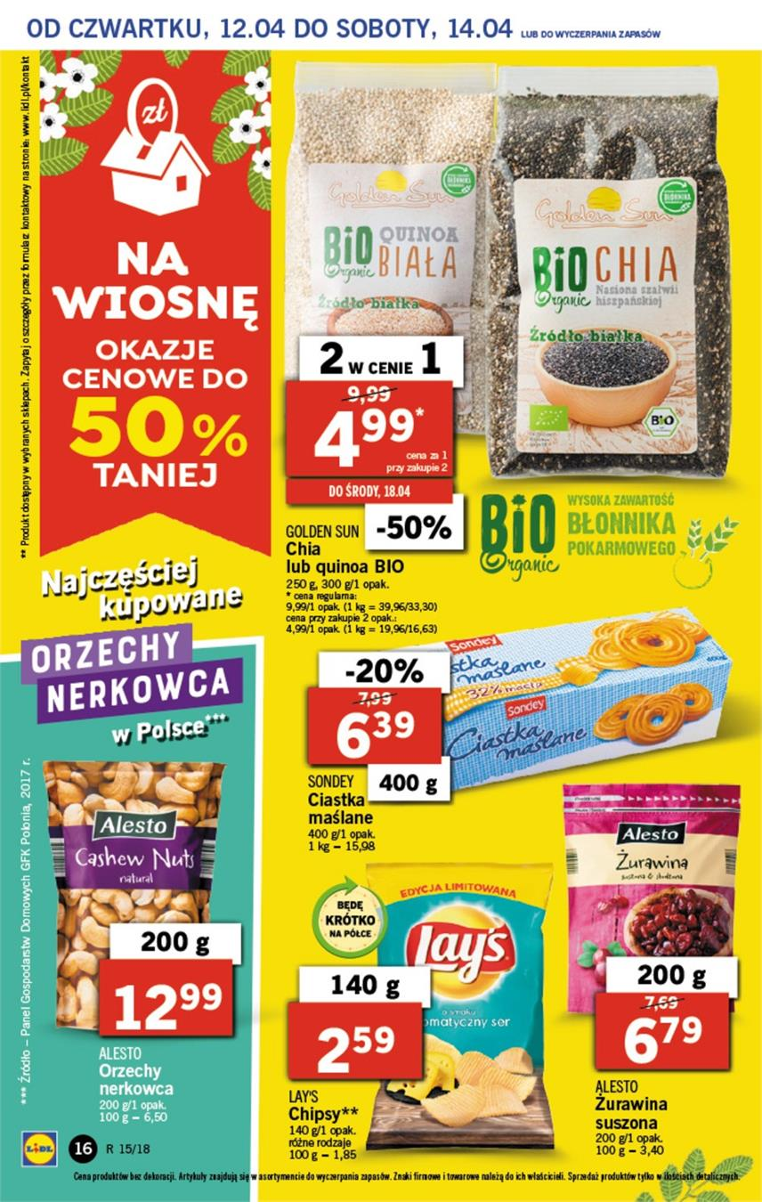 Gazetka Lidl Polska Sp. z o.o. nr 16 od 2018-04-12 do 2018-04-14
