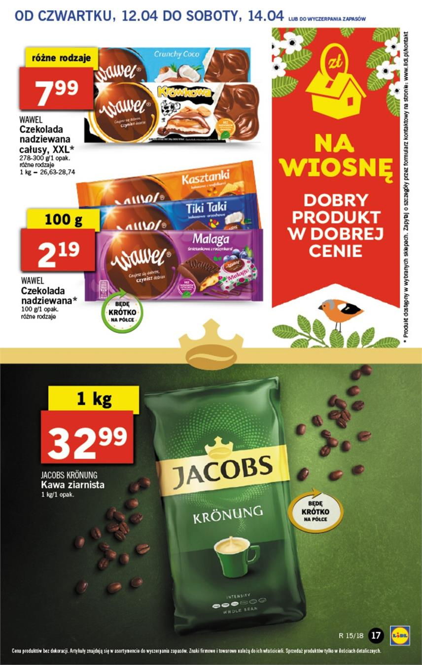 Gazetka Lidl Polska Sp. z o.o. nr 17 od 2018-04-12 do 2018-04-14