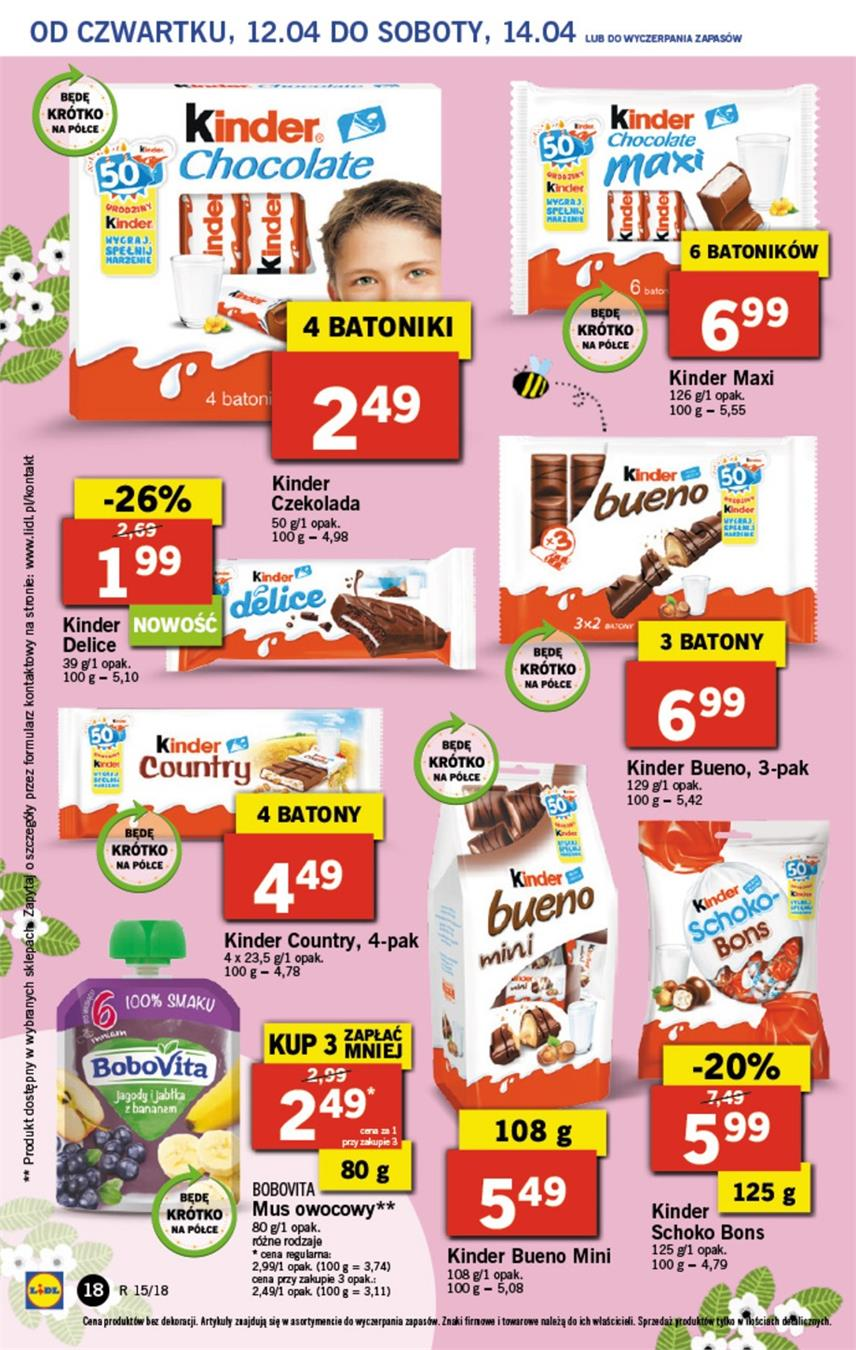 Gazetka Lidl Polska Sp. z o.o. nr 18 od 2018-04-12 do 2018-04-14