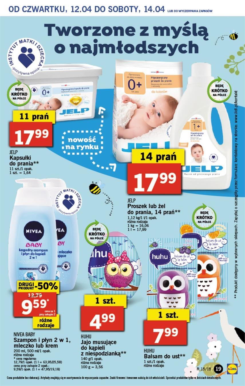 Gazetka Lidl Polska Sp. z o.o. nr 19 od 2018-04-12 do 2018-04-14