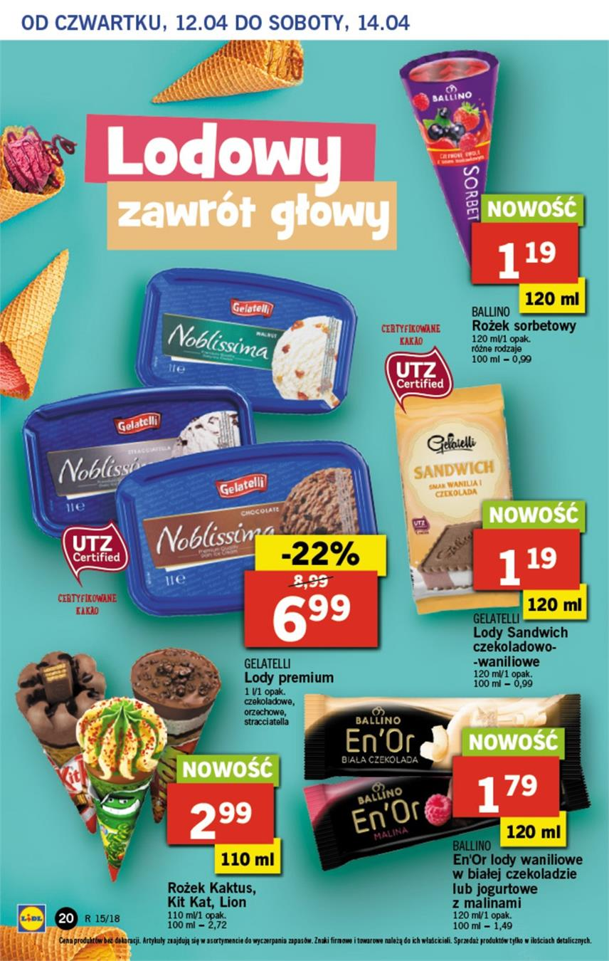 Gazetka Lidl Polska Sp. z o.o. nr 20 od 2018-04-12 do 2018-04-14