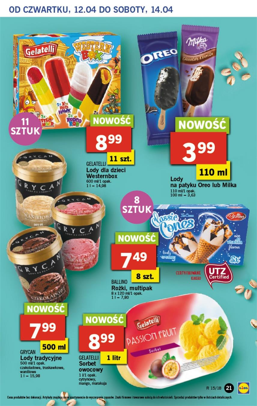 Gazetka Lidl Polska Sp. z o.o. nr 21 od 2018-04-12 do 2018-04-14