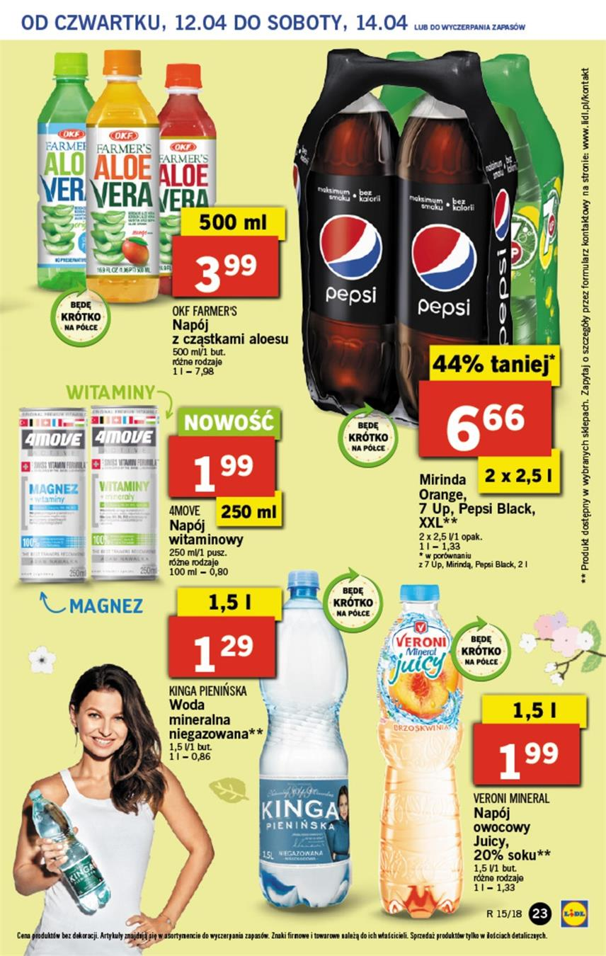 Gazetka Lidl Polska Sp. z o.o. nr 23 od 2018-04-12 do 2018-04-14