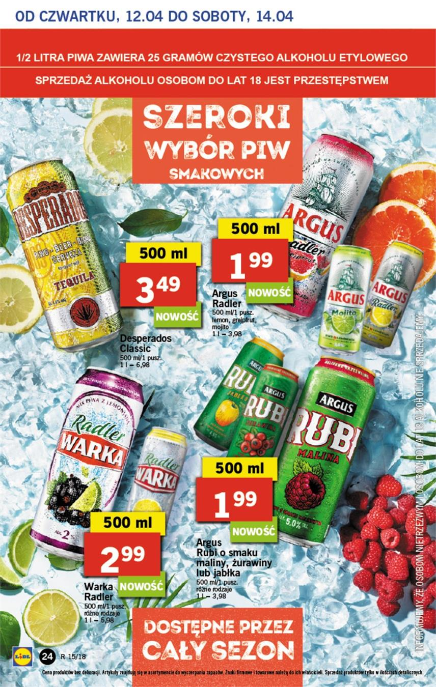 Gazetka Lidl Polska Sp. z o.o. nr 24 od 2018-04-12 do 2018-04-14