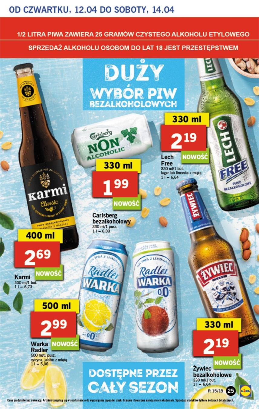 Gazetka Lidl Polska Sp. z o.o. nr 25 od 2018-04-12 do 2018-04-14