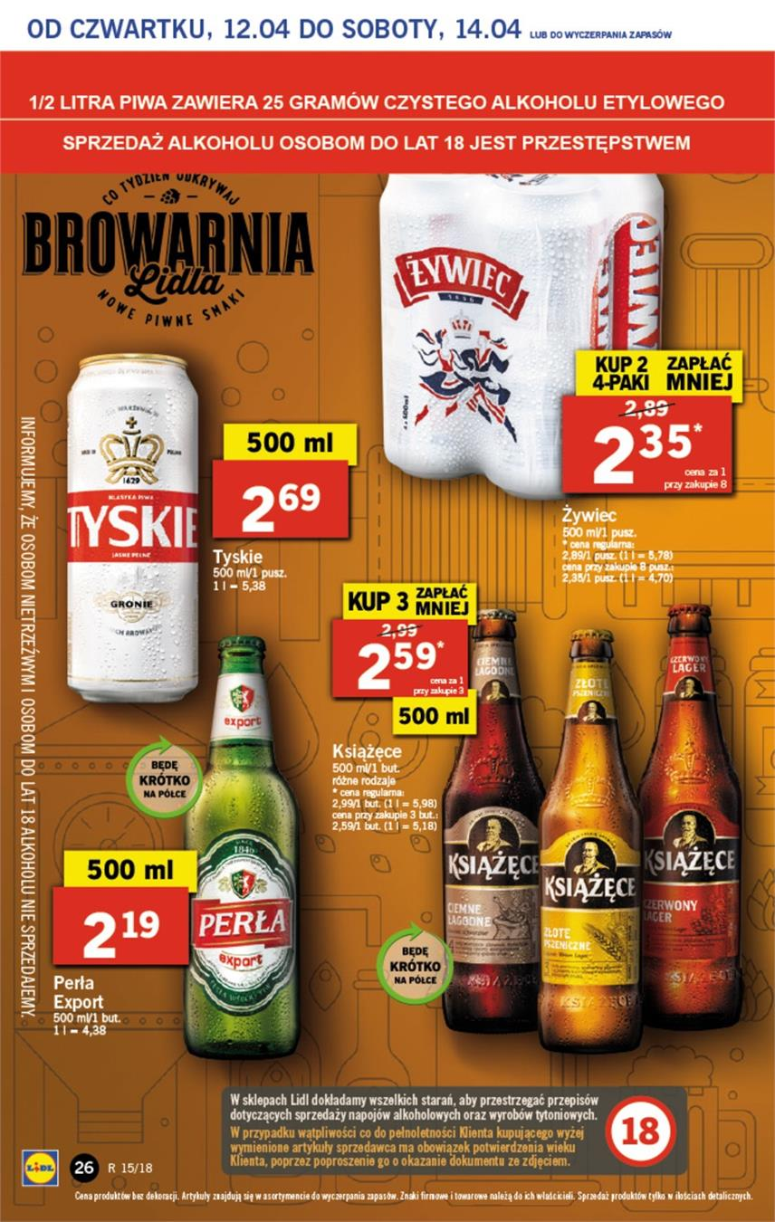 Gazetka Lidl Polska Sp. z o.o. nr 26 od 2018-04-12 do 2018-04-14
