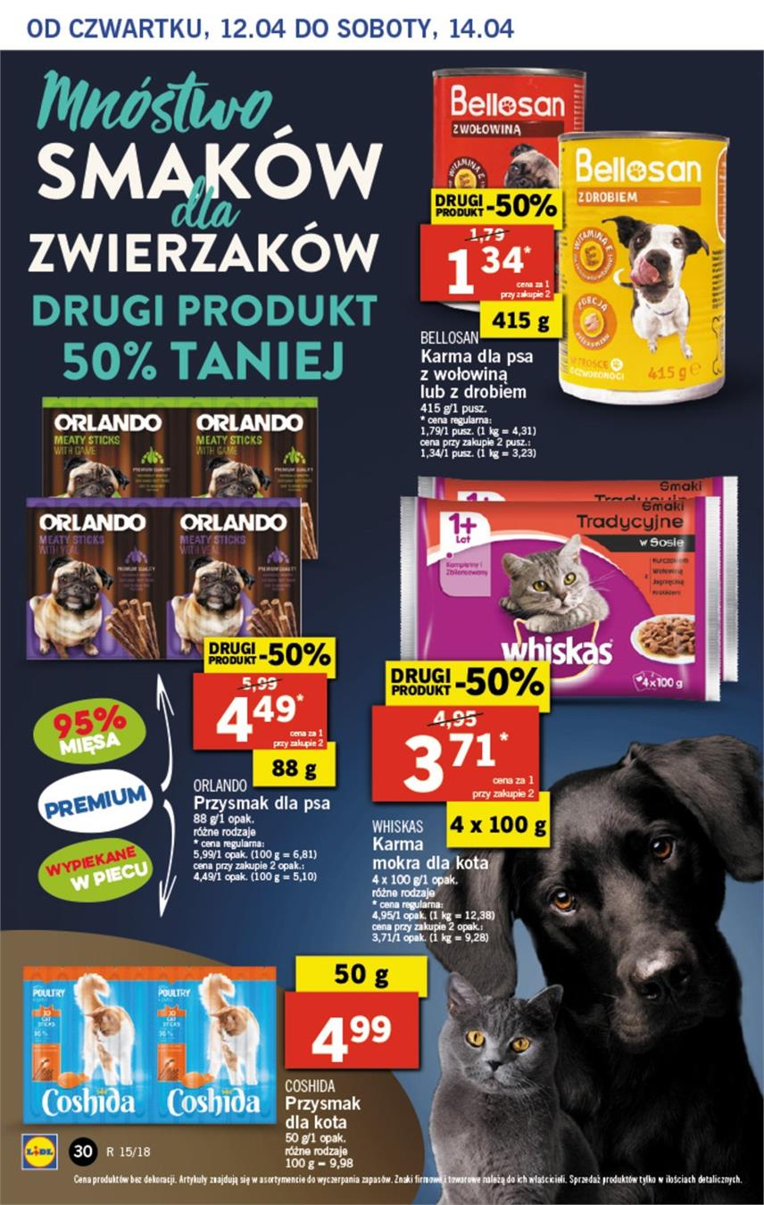 Gazetka Lidl Polska Sp. z o.o. nr 30 od 2018-04-12 do 2018-04-14