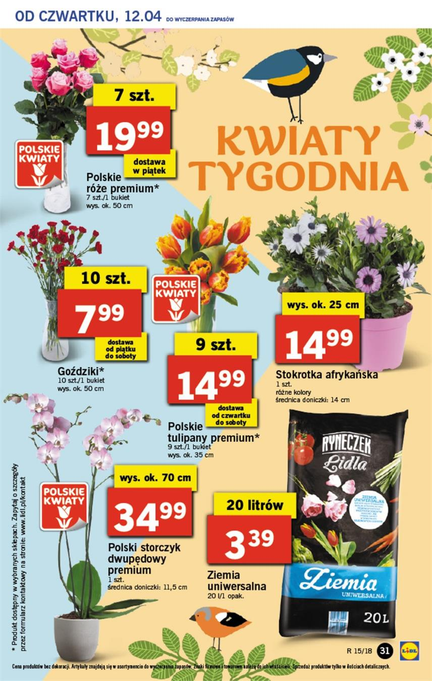 Gazetka Lidl Polska Sp. z o.o. nr 31 od 2018-04-12 do 2018-04-14