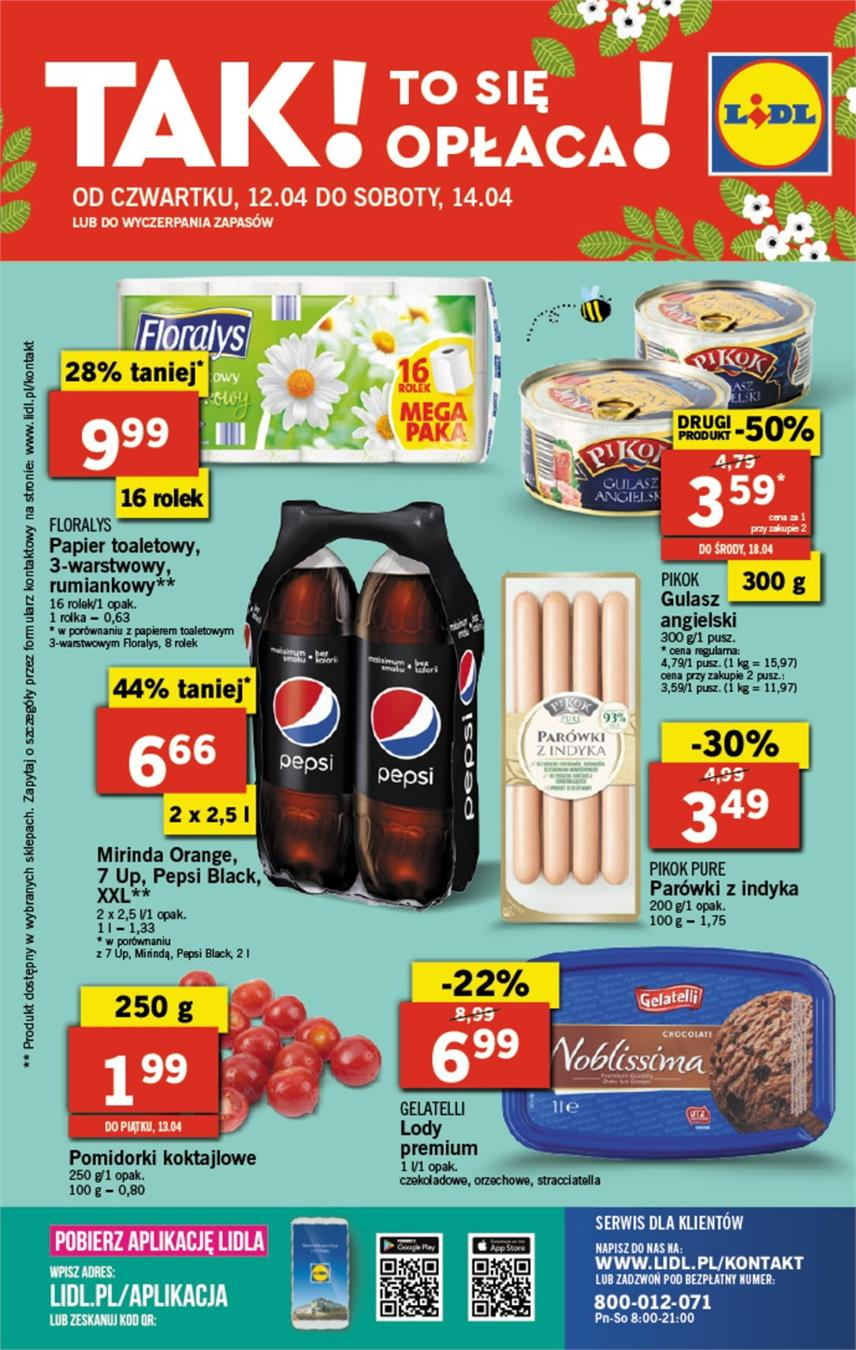 Gazetka Lidl Polska Sp. z o.o. nr 33 od 2018-04-12 do 2018-04-14