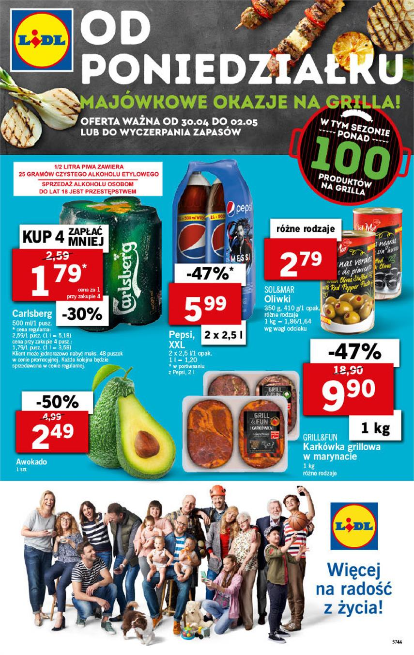Gazetka Lidl Polska Sp. z o.o. nr 1 od 2018-04-30 do 2018-05-02