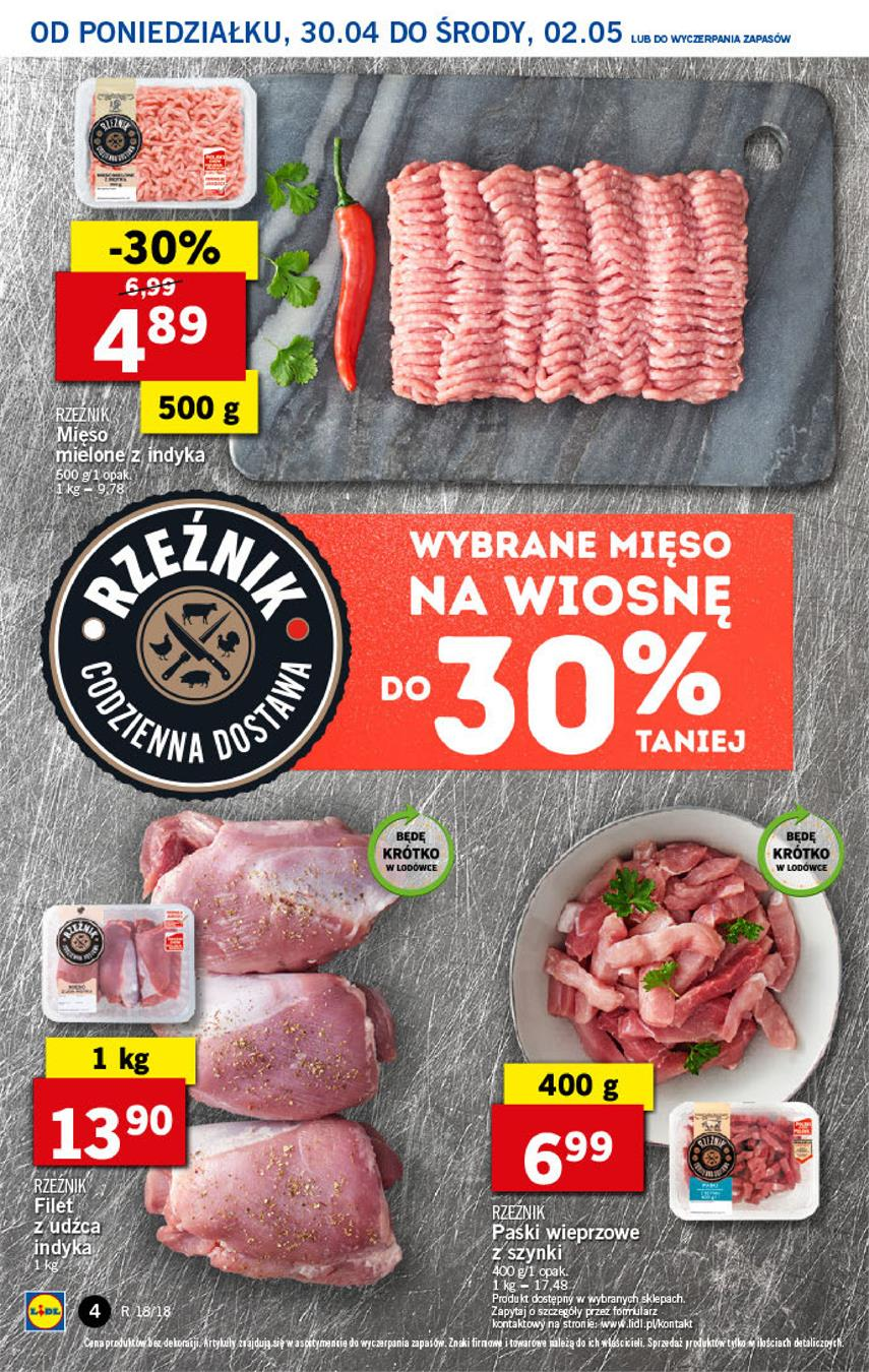 Gazetka Lidl Polska Sp. z o.o. nr 4 od 2018-04-30 do 2018-05-02
