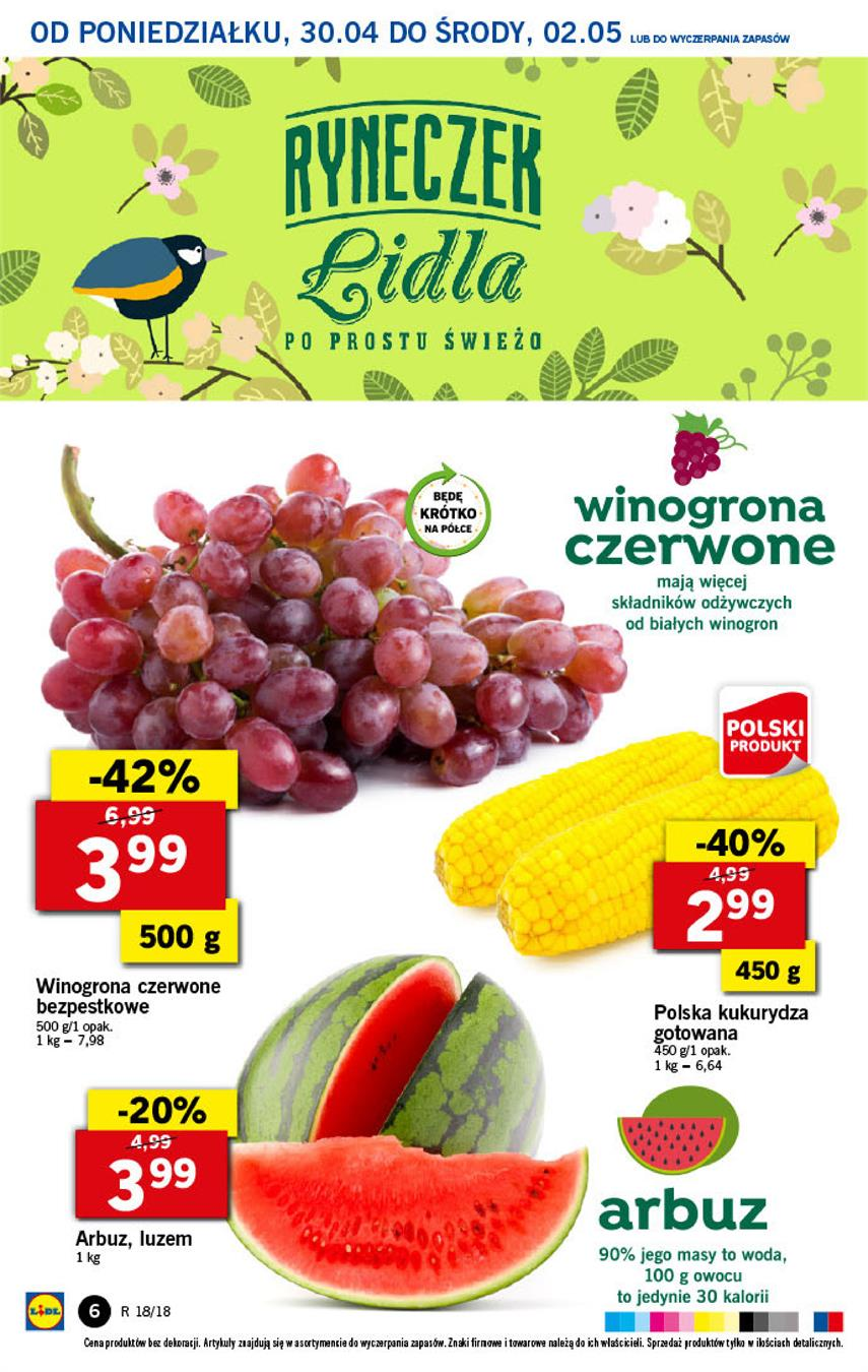 Gazetka Lidl Polska Sp. z o.o. nr 6 od 2018-04-30 do 2018-05-02