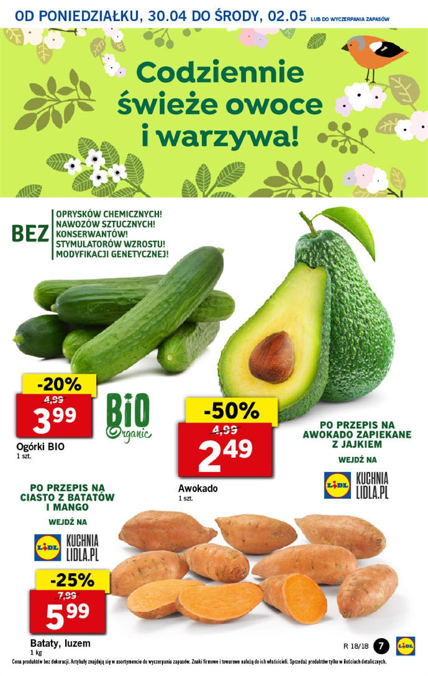 Gazetka Lidl Polska Sp. z o.o. nr 7 od 2018-04-30 do 2018-05-02