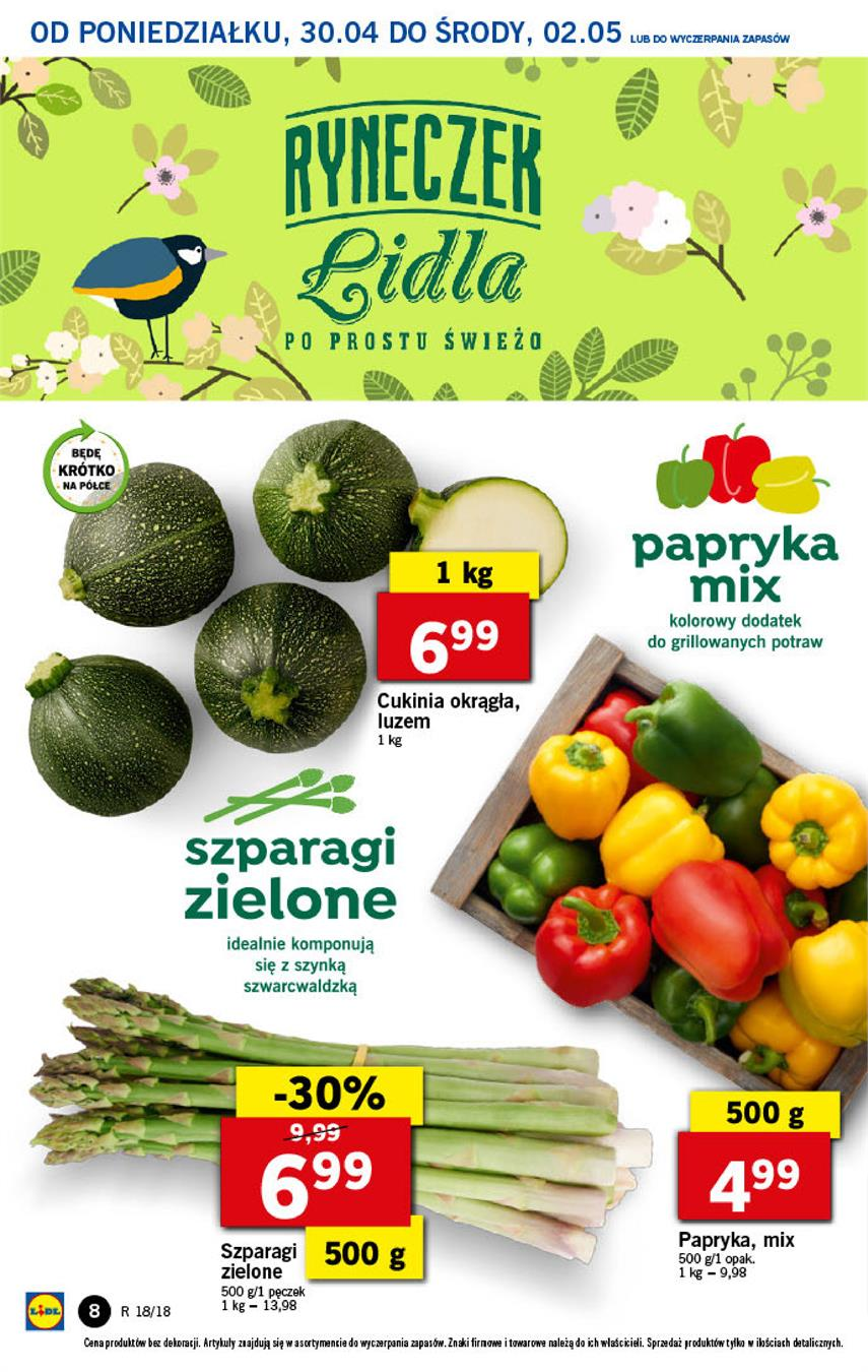 Gazetka Lidl Polska Sp. z o.o. nr 8 od 2018-04-30 do 2018-05-02
