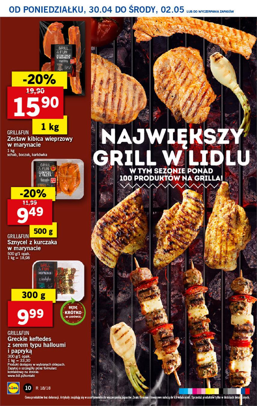 Gazetka Lidl Polska Sp. z o.o. nr 10 od 2018-04-30 do 2018-05-02