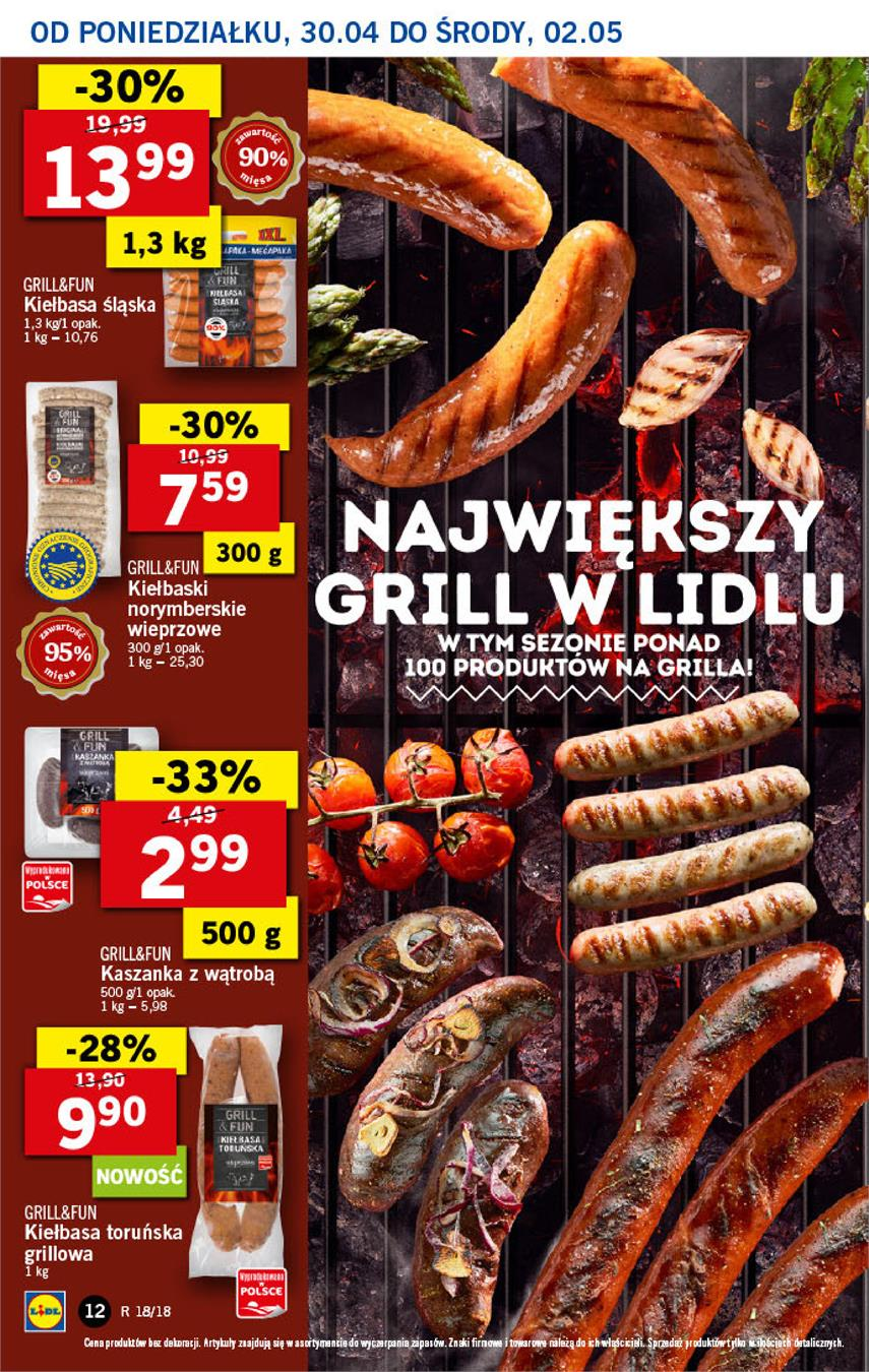 Gazetka Lidl Polska Sp. z o.o. nr 12 od 2018-04-30 do 2018-05-02