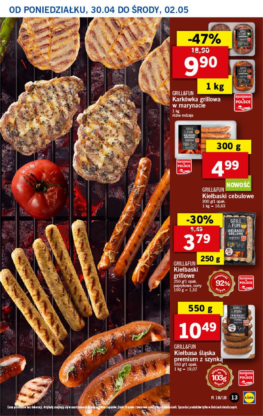 Gazetka Lidl Polska Sp. z o.o. nr 13 od 2018-04-30 do 2018-05-02
