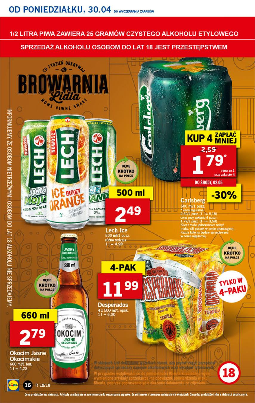 Gazetka Lidl Polska Sp. z o.o. nr 16 od 2018-04-30 do 2018-05-02