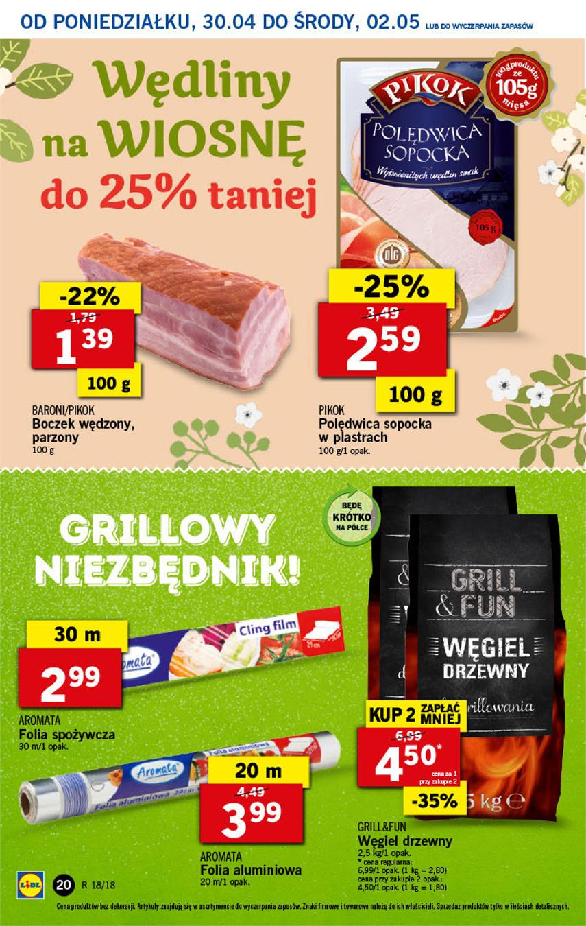 Gazetka Lidl Polska Sp. z o.o. nr 20 od 2018-04-30 do 2018-05-02