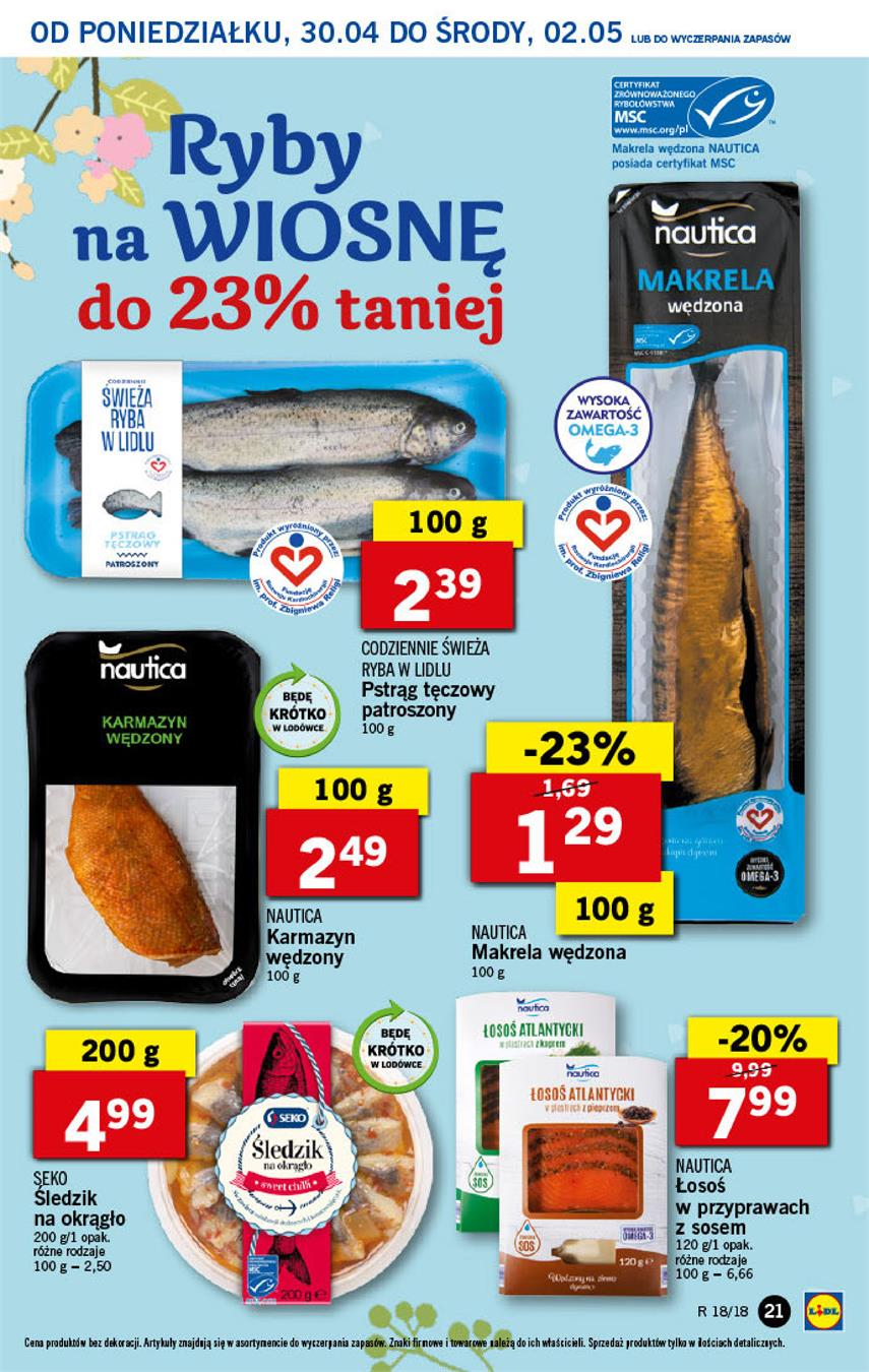 Gazetka Lidl Polska Sp. z o.o. nr 21 od 2018-04-30 do 2018-05-02