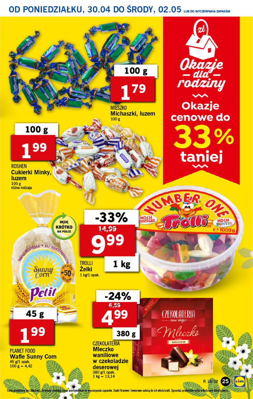 Gazetka Lidl Polska Sp. z o.o. nr 25 od 2018-04-30 do 2018-05-02