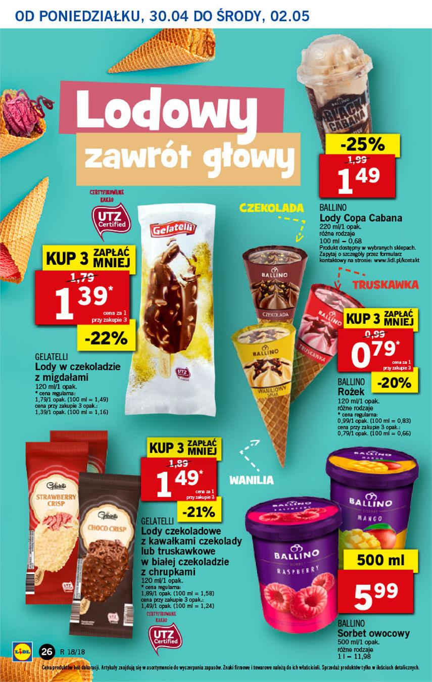 Gazetka Lidl Polska Sp. z o.o. nr 26 od 2018-04-30 do 2018-05-02
