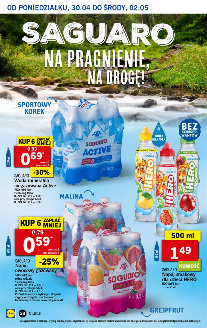 Gazetka Lidl Polska Sp. z o.o. nr 28 od 2018-04-30 do 2018-05-02