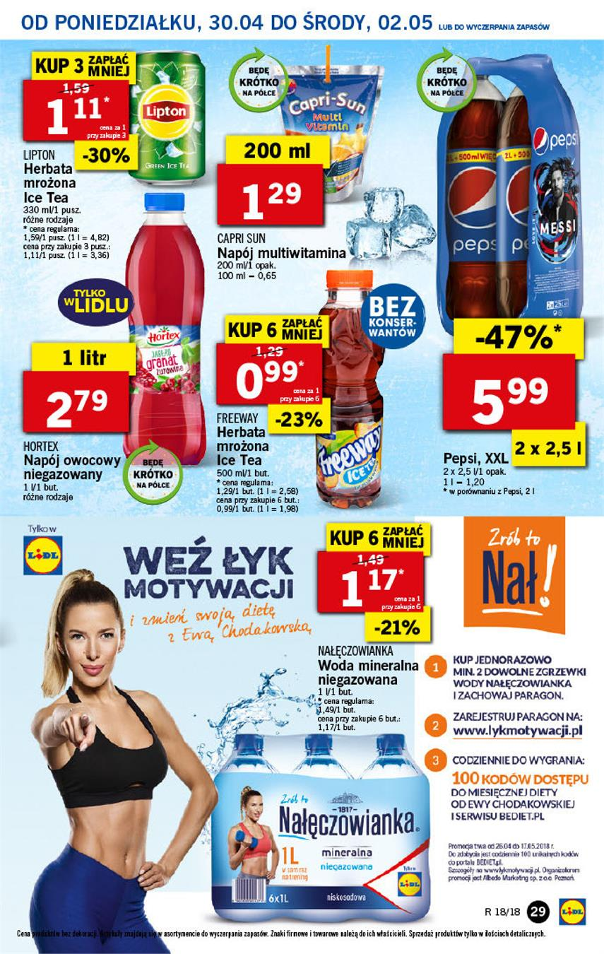 Gazetka Lidl Polska Sp. z o.o. nr 29 od 2018-04-30 do 2018-05-02