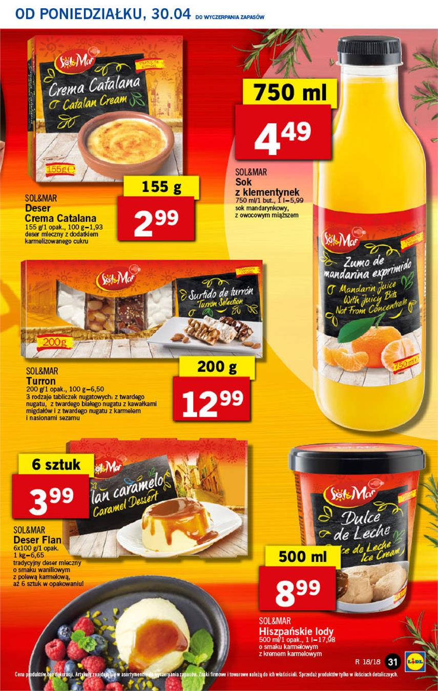 Gazetka Lidl Polska Sp. z o.o. nr 31 od 2018-04-30 do 2018-05-02