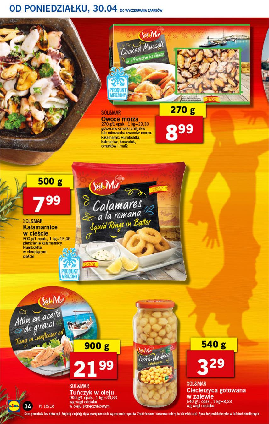 Gazetka Lidl Polska Sp. z o.o. nr 34 od 2018-04-30 do 2018-05-02