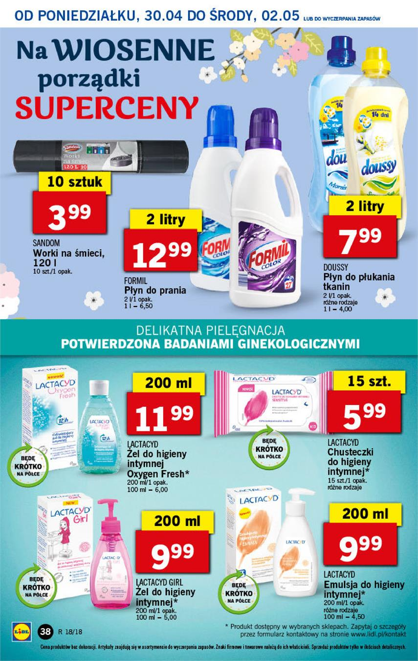 Gazetka Lidl Polska Sp. z o.o. nr 38 od 2018-04-30 do 2018-05-02