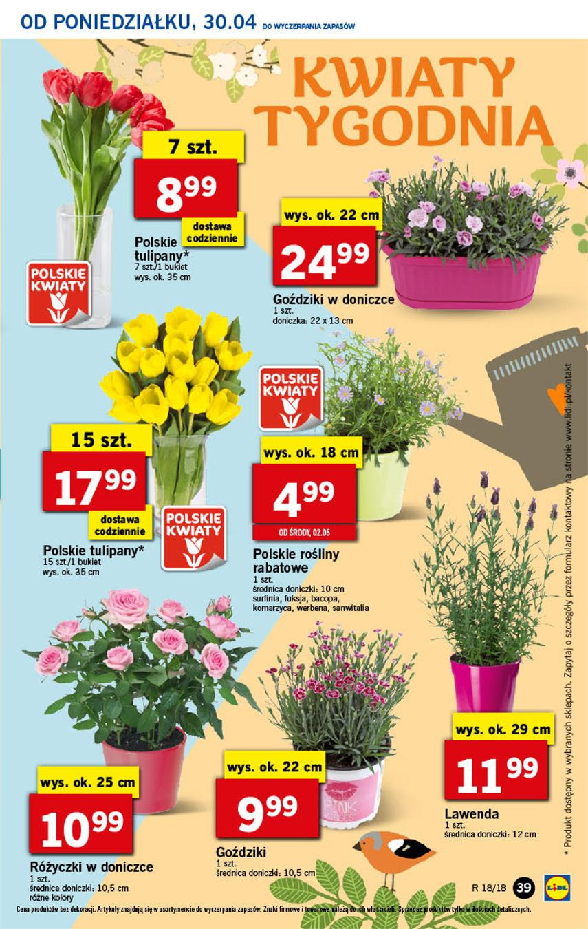 Gazetka Lidl Polska Sp. z o.o. nr 39 od 2018-04-30 do 2018-05-02