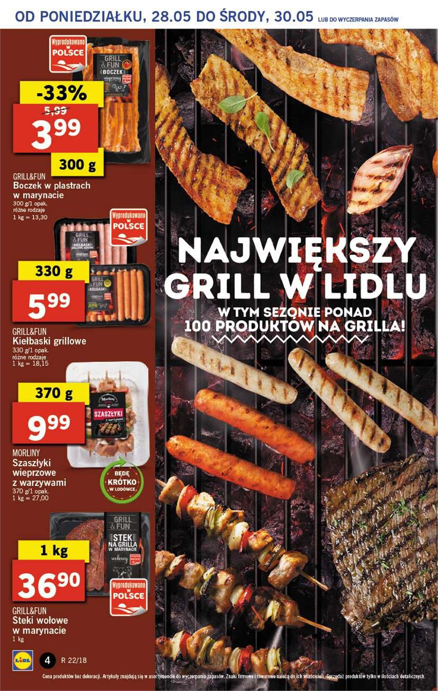 Gazetka Lidl Polska Sp. z o.o. nr 4 od 2018-05-28 do 2018-05-30